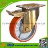 5 Inch-doppelte Hochleistungsbremsen-industrielles Fußrollen-Rad