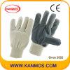 Перчатки белый хлопок Серый Винил промышленной безопасности работы (41018)