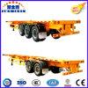 2/3 van Assen 40-60tons Cimc 40FT Flatbed Aanhangwagen van het Vervoer van de Container