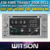 포드 Transit 2006-2011년 Car를 위한 Witson Car DVD DVD GPS 1080P DSP Capactive Screen WiFi 3G Front DVR Camera