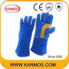 De echte Handschoenen van het Werk van het Lassen van de Bedrijfsveiligheid van het Leer van de Zweep (11110)