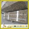 Bancada pré-fabricada do granito de Giallo Fiorito para o projeto da cozinha
