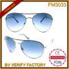 O metal projetado autêntico da forma FM3033 molda óculos de sol unisex