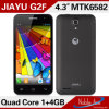 Mtk6582m、Cortex A7 Quad Core、1.3GHz; GPU: マリ400 Jiayu G2fのスマートな電話