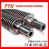 Hoja gemela del PVC del estirador de Bimetalic del barril 51/105 del tornillo