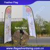 Портативное знамя пера летания пляжа полиэфира печатание полного цвета