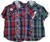 Покрашенная пряжей рубашка втулки краткости нашивки для износа людей