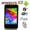 アンドロイド4.0 MTK6575 3G WCDMA 4.1インチの星X2容量性GPS WiFiのスマートな電話