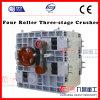 Triturador do estágio do rolo três de China quatro usado para a mineração quebrada com ISO