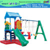 Deslize plástico e swing set for Kids Play (M11-09501)