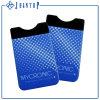 Portatarjetas elegante de la etiqueta engomada del teléfono celular de la parte posterior del teléfono de la carpeta del silicón promocional de los productos de la venta