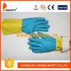 Перчатка 2017 безопасности перчаток домочадца неопрена латекса Ddsafety Blue&Yellow