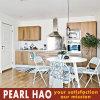 Mobília moderna do gabinete de cozinha da madeira contínua da melamina
