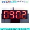 12inch al aire libre escogen la visualización de pantalla roja del reloj LED del dígito