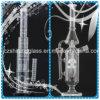 Heet verkoop de Glanzende Goedkopere Perfecte Percolator van de Waterpijp van het Glas van de Prijs Rokende