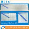 Spugna non sterile del rilievo del giro/cotone addominale 100% dei tamponi 12X47cm-4ply