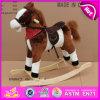 O cavalo de madeira novo de Rockiing do balanço, cavalo de balanço de madeira popular, caçoou o brinquedo de madeira do cavalo de balanço, cavalo de balanço de madeira W16D071