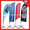 Kundenspezifische im Freienbildschirmanzeige-Fahnen-Feder-Strand-Markierungsfahne