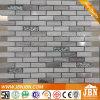 Madera Mármol Look, aluminio, plata convexo Mosaico de vidrio (M855100)