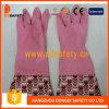 Розовые перчатки домочадца латекса латекса домочадца (DHL718)