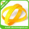 Bracelet personnalisé bon marché de silicium de logo d'impression