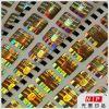 autoadesivi olografici di Anti-Falsificazione 3D dell'oro di 20*20mm con le caratteristiche di obbligazione