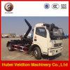Carro de basura de la tonelada 4m3 Hooklift de Dongfeng 4*2 4