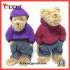 Urso macio enchido jazz da peluche do brinquedo do estilo de Hip Hop com uniforme
