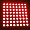 P7.625 cubierta Panel simple Pantalla LED Red Dot Matrix