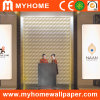 Color llano 3D Wallpaper White para Walls