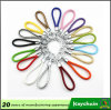 Cores do couro Keychain do Weave
