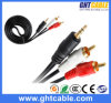 2m 3.5mm-2RCA Male aan Male Audio Cable