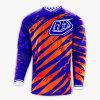 Maglietta fuori strada professionale di sport di colore blu che corre la Jersey (MAT64)