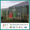 ヨーロッパの塀を囲う電流を通された鋼鉄現代柵