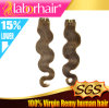 싼 5A 브라질 Virgin Hair Extension 100%년 Human Hair Weave Lbh 050