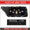 GPSのAudi A4 After 2008年、Bluetoothのための特別なCar DVD Player。 を使ってA8 Chipset Dual Core 1080P V-20 Disc WiFi 3Gのインターネット(CY-C310)
