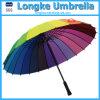 24 de Rechte Paraplu van de Regenboog van kleuren (LK001)