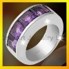 Silver quente Ring com Amethyst, Paypal Accepted