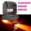 이동하는 맨 위 거미 점화 LED 광속 16 LED 4in1 12W 30W