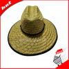 Chapéu natural de Sun da palha do chapéu de palha da cavidade do chapéu de palha
