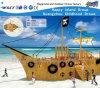 Campo de jogos de madeira da aventura do navio com corrediça Hf-16802