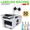 De elektro Halfautomatische Ronde Machine van de Etikettering van Fles MT-50