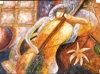 ハンドメイドの油絵