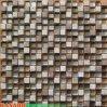 Mattonelle Mixed della decorazione del mosaico di cristallo del mosaico di pietra del Brown (KSL7751)