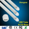 4ft 18W Neutral 또는 Cool White CE/RoHS/FCC/LVD/EMC R17D T8 LED Tube Light