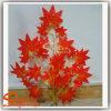 Fogli dell'albero di acero del panno della seta artificiale della decorazione di Ome