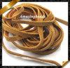 Cuerda de cuero de la joyería con el color 4m m anchura, joyería de cuero de la manera de las secuencias de la pulsera (RF052) de Brown