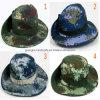 方法リボンの麦わら帽子の大きい縁浜の帽子