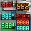 Al aire libre impermeabilizar 10  8.889 muestras Digitaces del precio de la gasolina del verde LED del pixel de 16m m para la gasolinera
