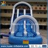 Diapositiva de agua inflable, diapositiva inflable modificada para requisitos particulares con la piscina